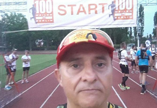 Nuestro veterano Miguel Arenas en las 100 Millas de Berlín