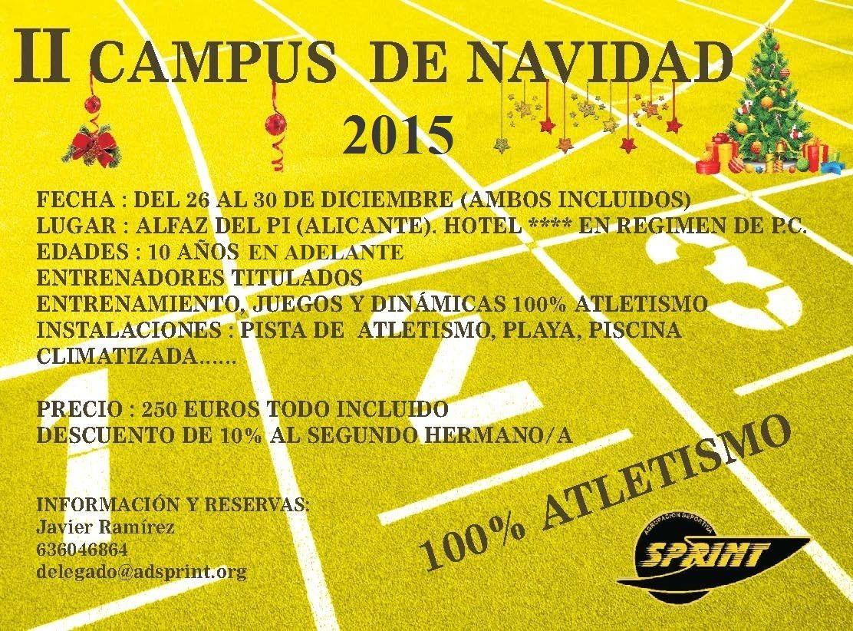 II Campus de Navidad A.D.Sprint!!!
