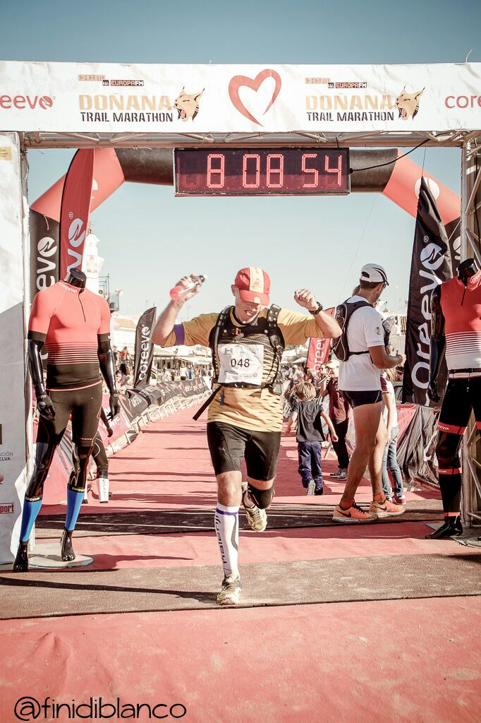 Miguel Arenas acaba el Camino del Rocío en 8 horas