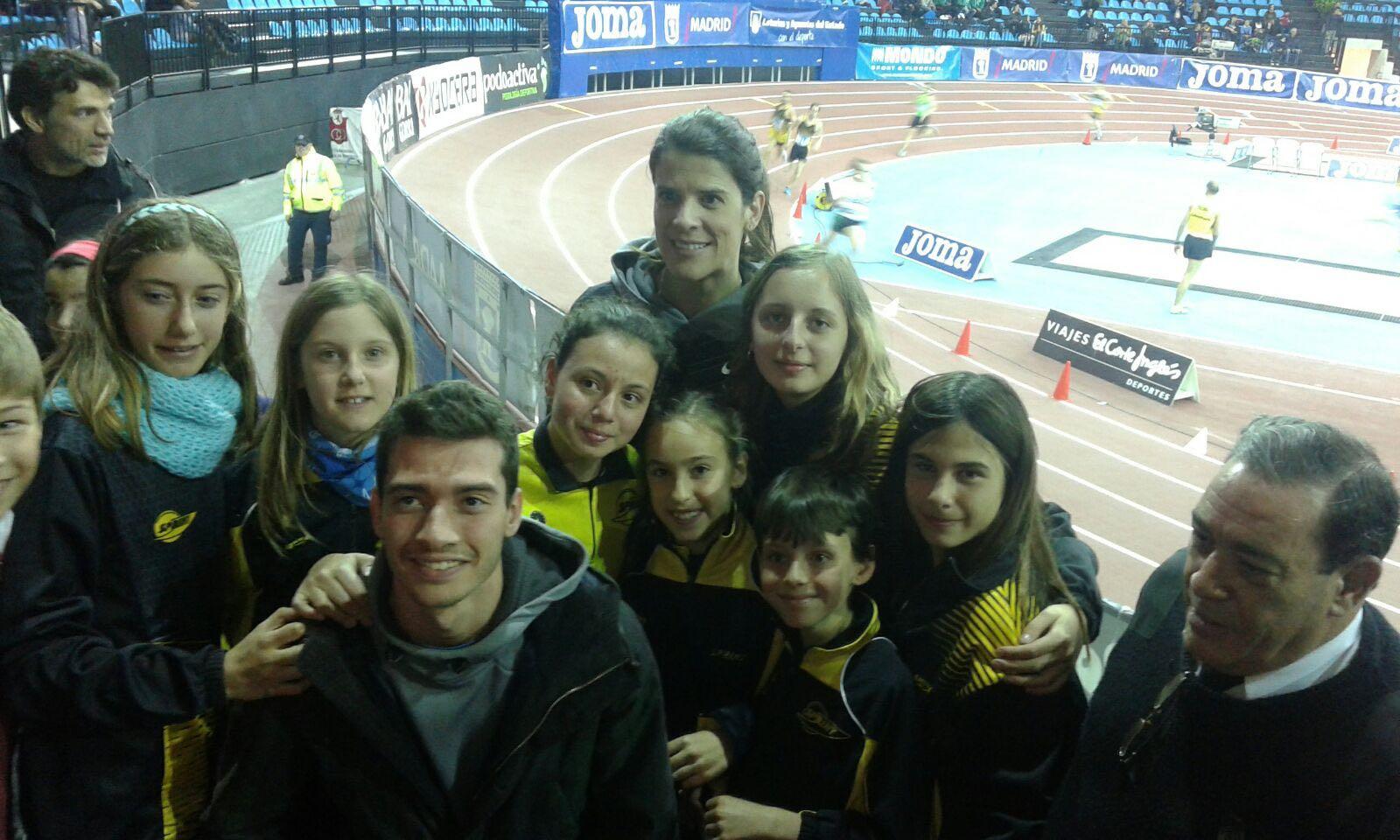 Nuestros atletas inauguran la pista cubierta de Madrid!!!
