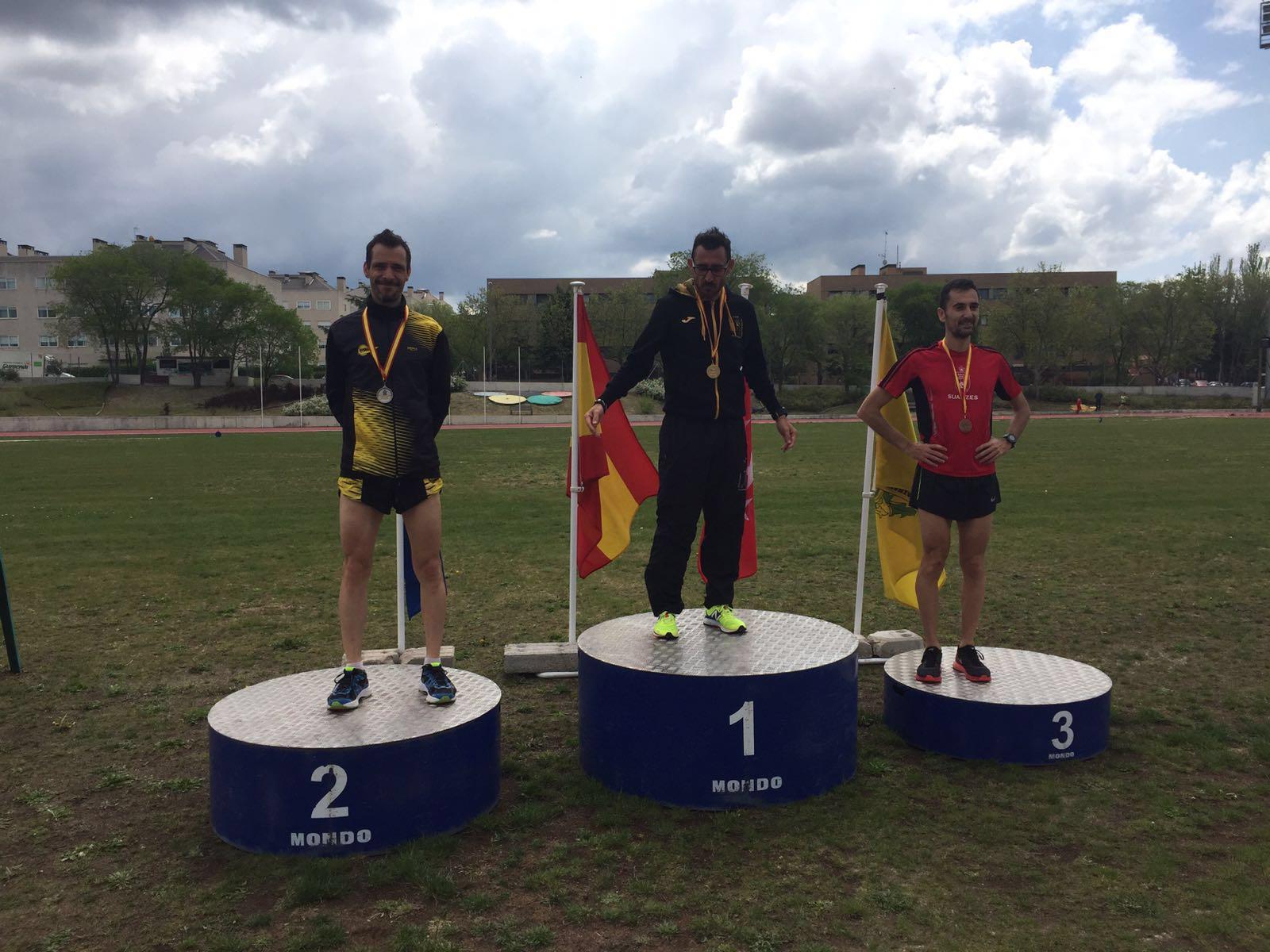 Javier Sánchez Subcampeón de España de 10km en pista M40!!