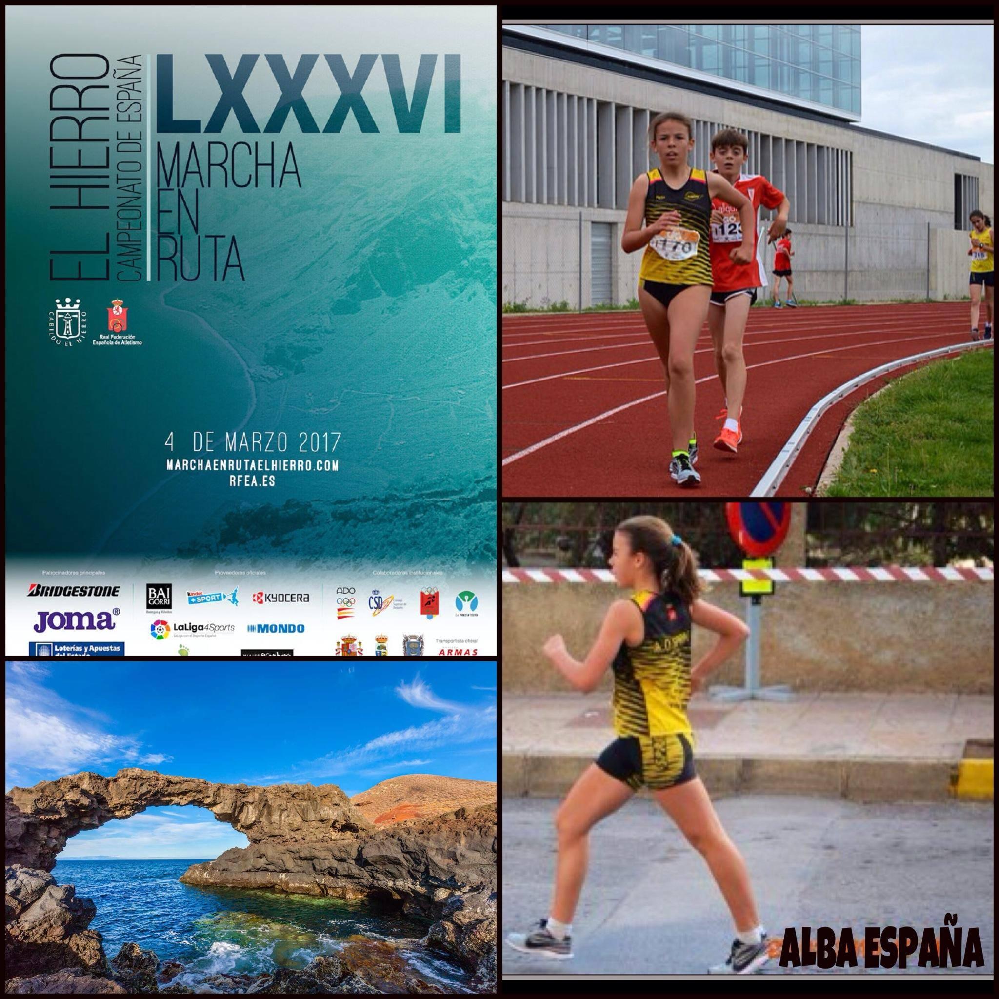 Nuestra marchadora Alba brilla en su Campeonato de España