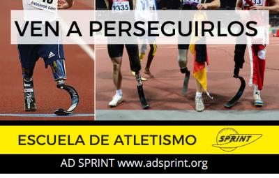cartel escuela atletismo adaptado