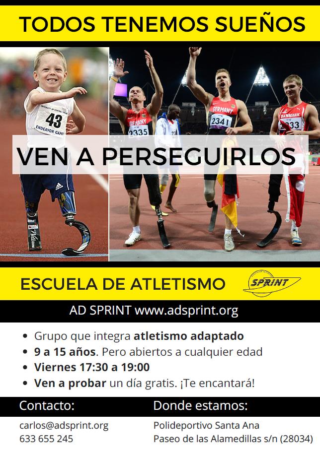 Abrimos escuela de atletismo adaptado!!