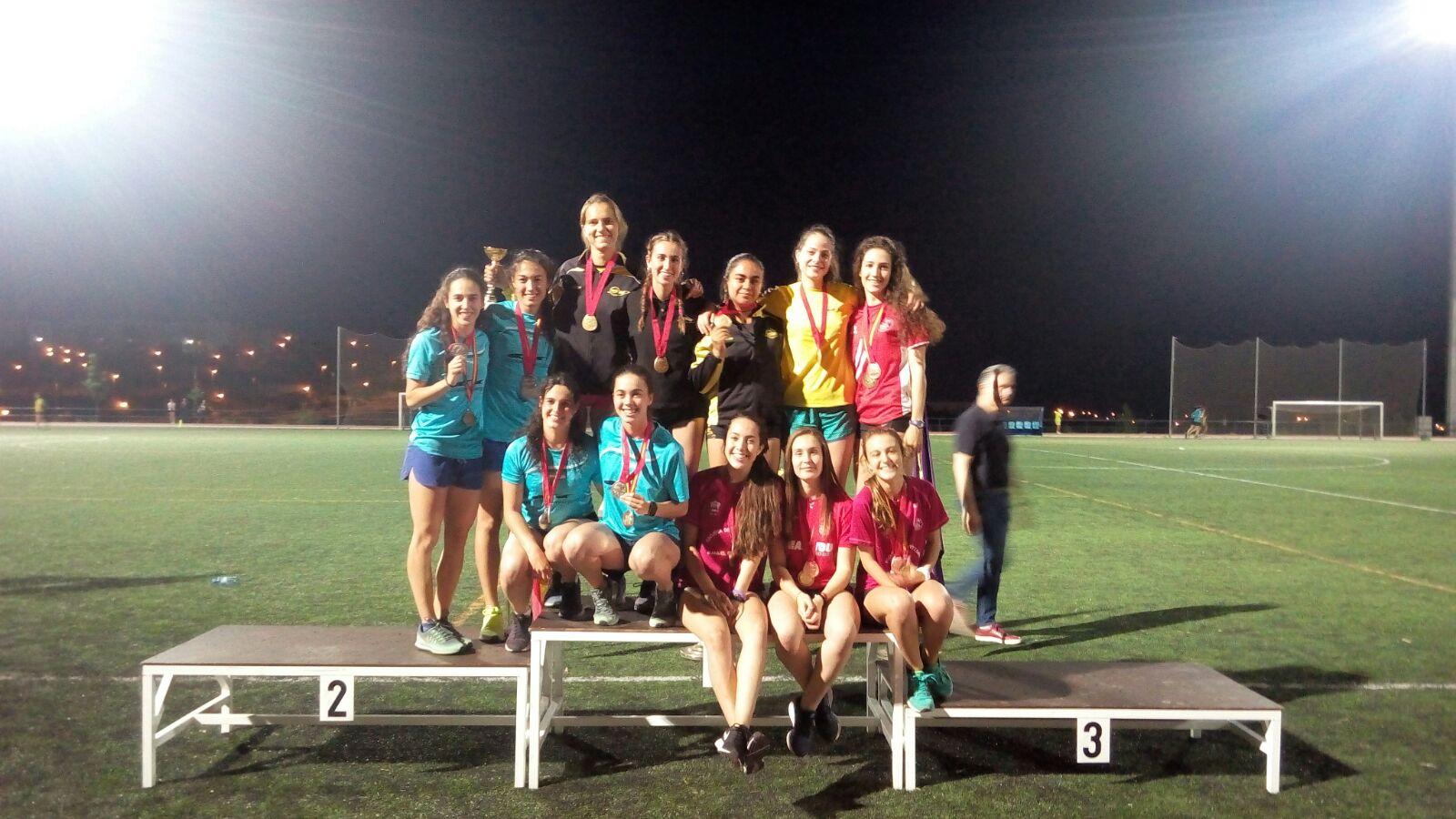 Nuestras chicas Campeonas de Madrid de 4×400