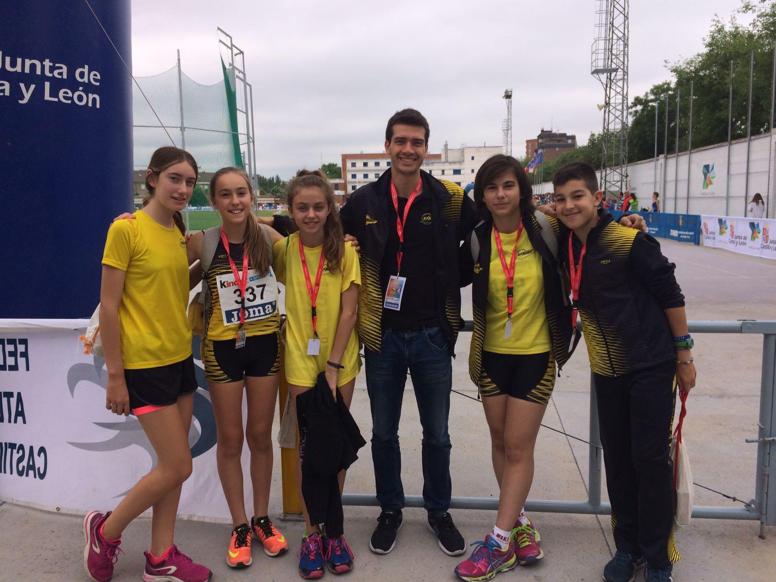 4 Infantiles Sprinteros en el Campeonato de España de Valladolid