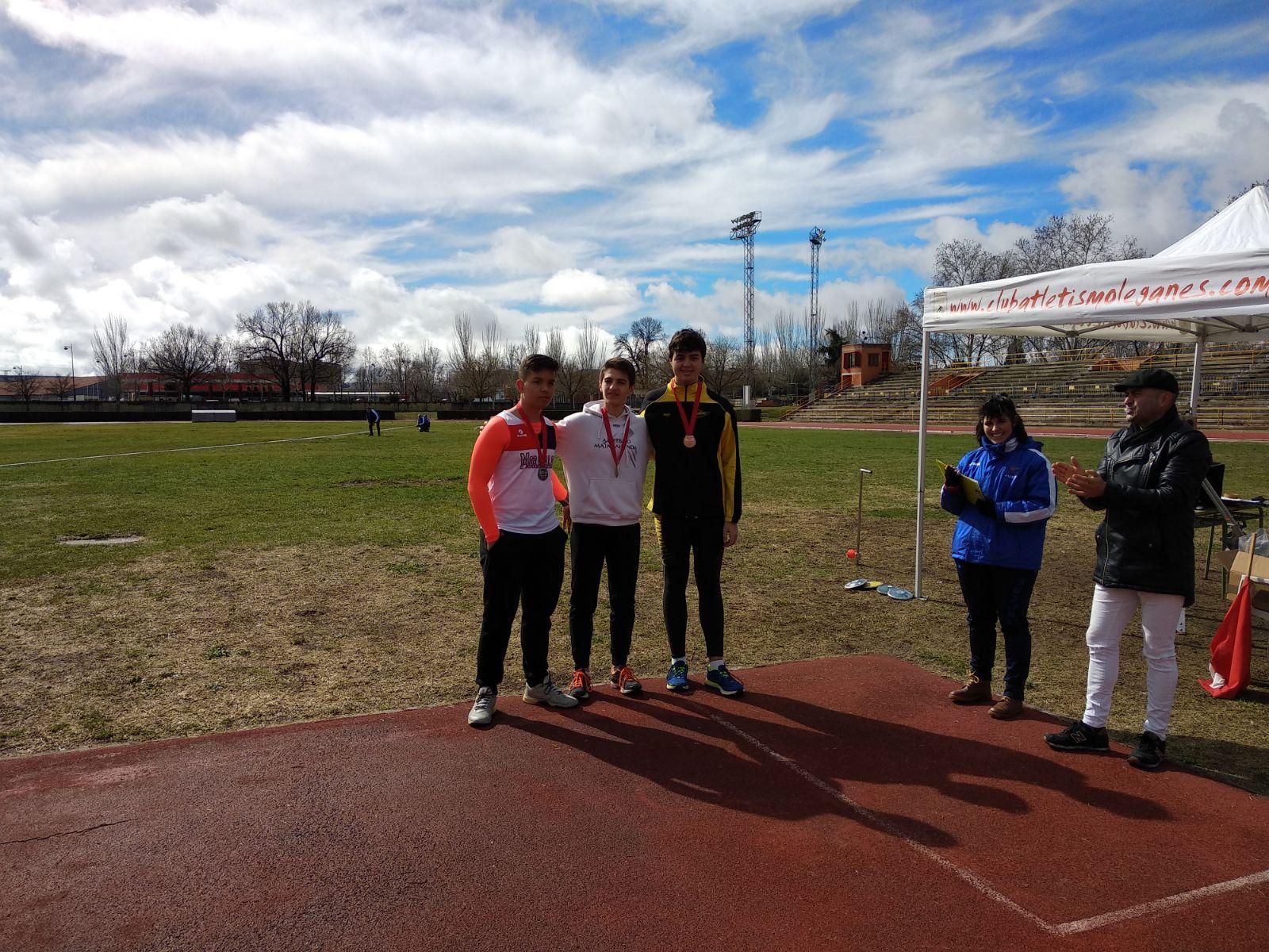 Lucía y Rubén destacan en el Campeonato de Madrid de lanzamientos largos