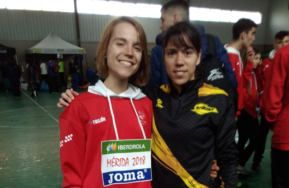 Lorena y María en el Campeonato de España individual de cross