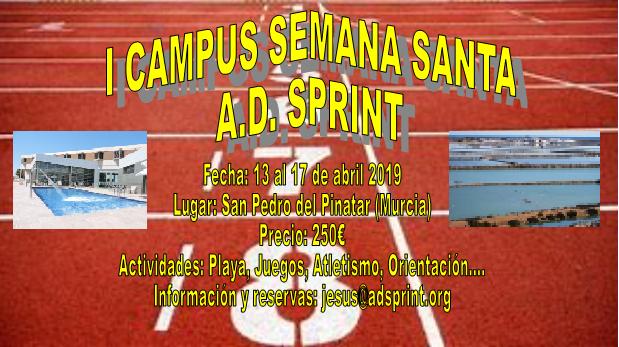 I CAMPUS SEMANA SANTA A.D. SPRINT